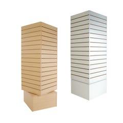 Rotating Cube Slatwall Merchandiser