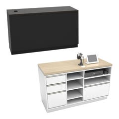 """Deluxe 55"""" Cash Wrap Retail Counters for Dispensaries"""