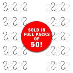 Pipeline S-Hooks - Pack of 50