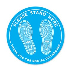 PPE FLOOR DECAL - PLEASE STAND HERE - Pack of 5