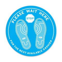 PPE FLOOR DECAL - PLEASE WAIT HERE - Pack of 5