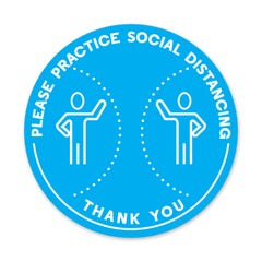 PPE FLOOR DECAL - PLEASE PRACTICE SOCIAL DISTANCING - Pack of 5