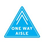 "One Way Aisle PPE Floor Decal - 13.7"" x 12"" Triangular-  Pack of 5"