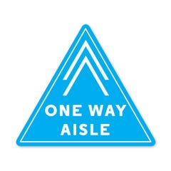 PPE FLOOR DECAL - ONE WAY AISLE - Pack of 5