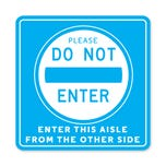 """Please Do Not Enter PPE Floor Decal 12"""" Square -  Pack of 5"""